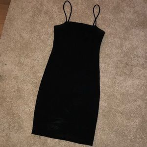 Forever 21 black sexy body con dress med small